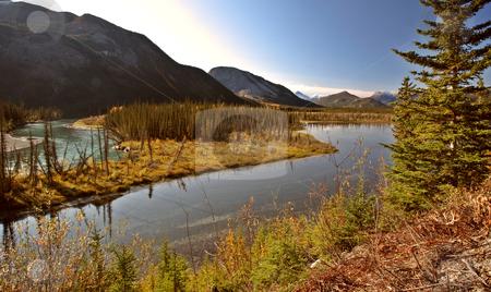 Liard River in British Columbia stock photo, Liard River in British Columbia by Mark Duffy