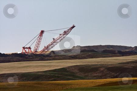Coal draglines in Southern Saskatchewan stock photo, Coal draglines in Southern Saskatchewan by Mark Duffy