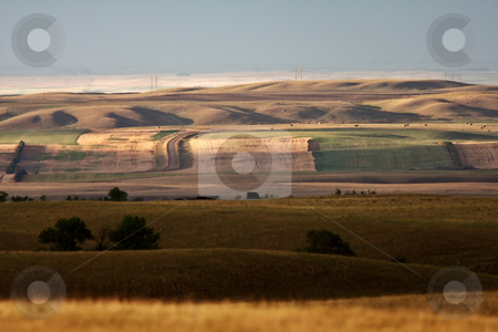 Rolling hills of Southern Saskatchewan stock photo, Rolling hills of Southern Saskatchewan by Mark Duffy
