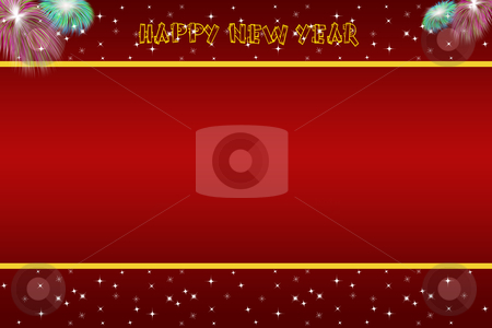 Abstract background of happy new year  stock photo, Beautiful abstract background of happy new year  by Ingvar Bjork