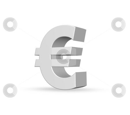 Euro stock photo, euro symbol on white background - 3d illustration by J?