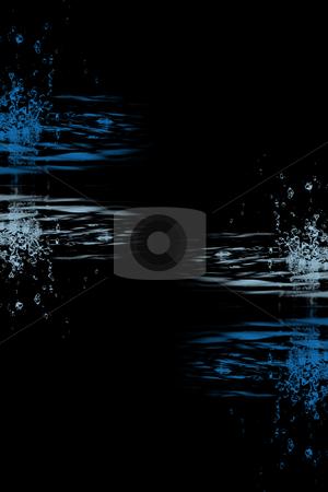 water splashing background stock photo, Beautiful water splashing background by Ingvar Bjork