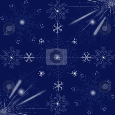 beautiful snowflakes background  stock photo, Texture of beautiful snowflakes background   by Ingvar Bjork