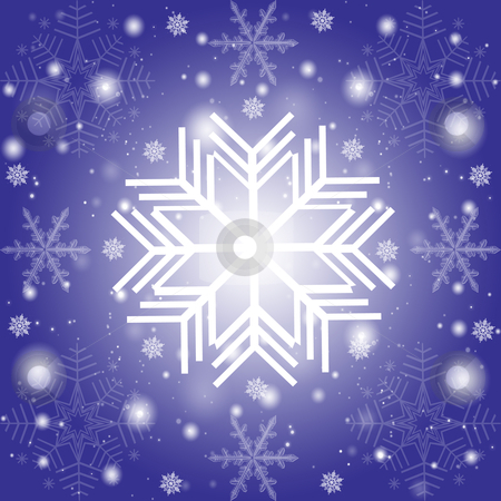 Abstract snowflakes background stock photo, Abstract snowflakes background on purple  by Ingvar Bjork