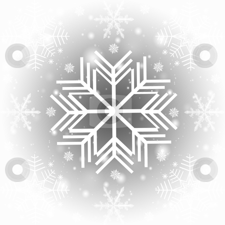 Abstract snowflakes background stock photo, Abstract snowflakes background   by Ingvar Bjork
