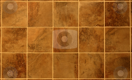 Beautiful Reddish Brown Tile stock photo, Beautiful reddish brown tile from a bathroom wall. by Chris Hill