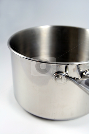 Stainless Steel Pot stock photo, A stainless steelm medium sized pot. by Chris Hill