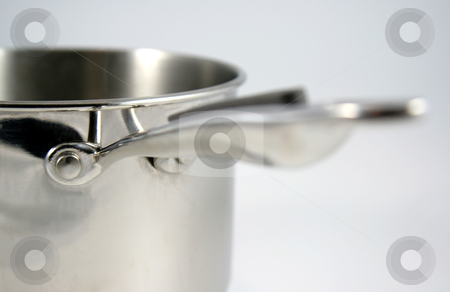 Seize the Handle stock photo, A closeup of a stainless steel pot.  by Chris Hill