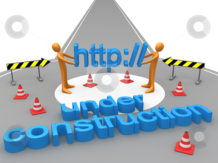 Under Construction stock photo, Metaphor for under construction websites. by Konstantinos Kokkinis