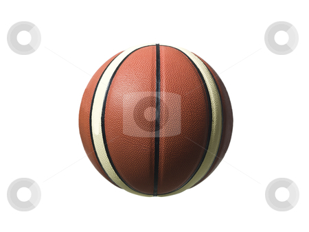 Basketball stock photo, Basketball isolated on white background by Anne-Louise Quarfoth