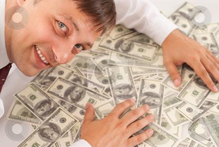 White man with money