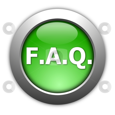 Faq button stock photo, faq button isolated on a white background by Gunnar Pippel