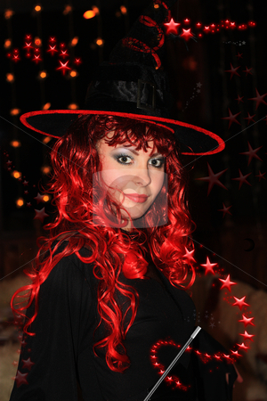Witch stock photo, Beautiful witch ready for spells and incantations. by Bagiuiani Kostas