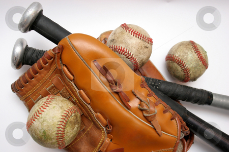 Baseball stock photo, Baseball, baseball Glove and Bat by vladacanon1