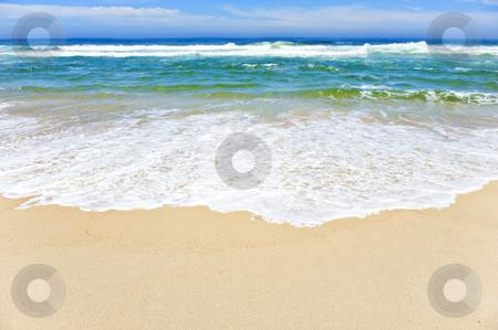 Open beach on a tropical island stock photo, Open beach on a tropical island with sky by tish1