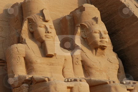 Abou Simble stock photo, Abou Simble Great Temple detail, Egypt        by Albo