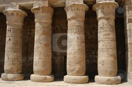 Egyptian pillars stock photo, Egyptian pillars, Egypt, Africa by Albo