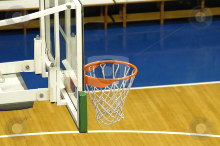 Basketball court stock photo, Basketball court by Albo