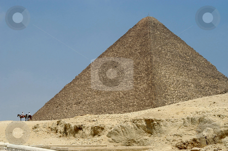 Egyptian pyramid stock photo, Egyptian pyramid, Cairo, Egypt by Albo