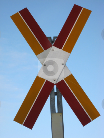 Onknown sign  stock photo, Unknown sign closeup in the blue sky by Sasas Design