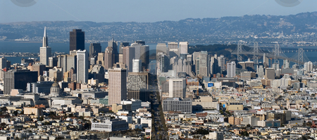 San Francisco stock photo, San Francisco view from Twin Peaks hills by Albo