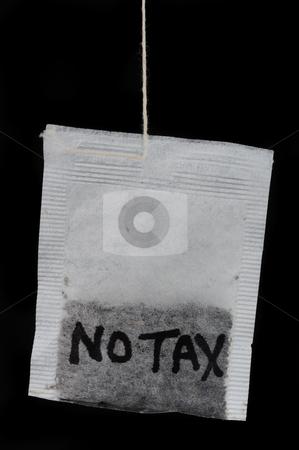 No new tax. stock photo, Tea party ,no tax. by WScott