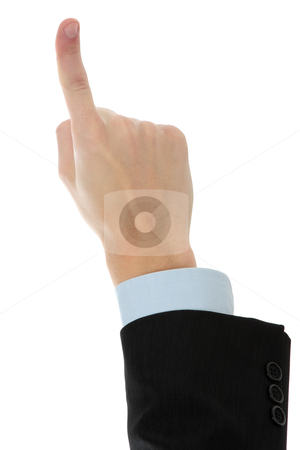 Gesturing hand stock photo, Gesturing hand isolated on white background  by Piotr_Marcinski