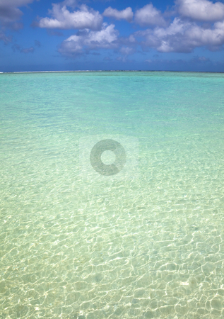 Pacific ocean island  and blue clean water  stock photo, Pacific ocean island  and blue clean water  by tomwang
