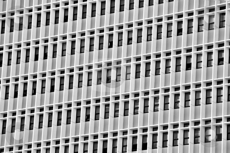 Skyscraper stock photo, Modern high rise urban building architectural background. Black and white. by sirylok