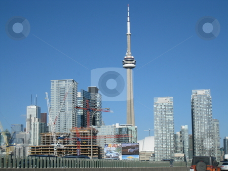 CN Tower in Toronto stock photo, CN Tower in Toronto, Canadav by Ritu Jethani