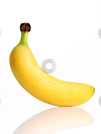 Ripe banana  stock photo, Ripe banana isolated on white background by sutike