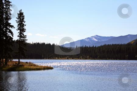 Twin Lakes in scenic Alberta stock photo, Twin Lakes in scenic Alberta by Mark Duffy