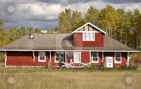 Old train station in scenic Saskatchewan stock photo, Old train station in scenic Saskatchewan by Mark Duffy