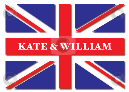 Royal wedding flag stock photo, Union jack flag for the royal wedding of kate and william by Michael Travers