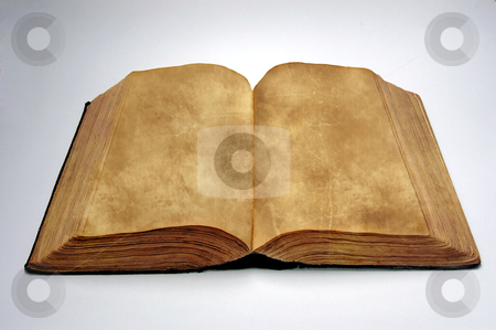 Old blank book stock photo, Old blank book by sutike