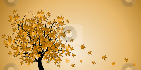 Abstract tree with autumn leaves  stock photo, Abstract tree with autumn leaves vector illustration by sutike