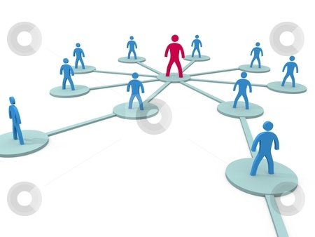 Social Network stock photo, Social Network symbolyzed by simple figures by novelo
