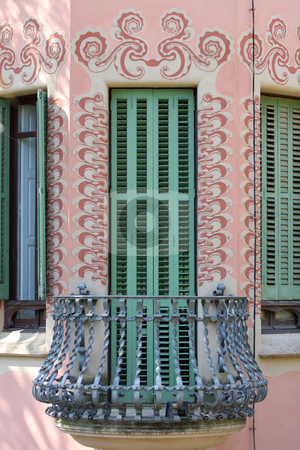Park Guell, Barcelona, Spain stock photo, Details of a balcony of Gaudi's house by vladacanon1