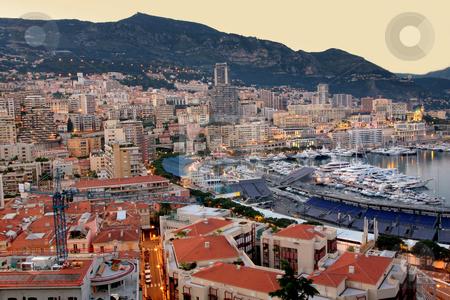 Monaco  stock photo, View of Monaco at night by vladacanon1