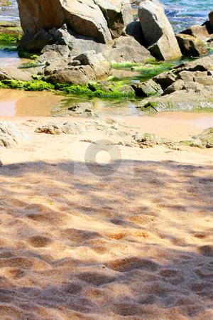 Beach in Lloret de Mar (Spain) stock photo, Costa Brava beach in Lloret de Mar (Spain) by vladacanon1