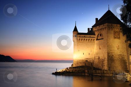 The Chillon castle in Montreux, Switzerland stock photo, The Chillon castle in Montreux (Vaud), Geneva lake, Switzerland by vladacanon1