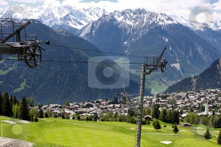 Verbier, Switzerland stock photo, details of skiing resort, Swiss Alps, Verbier, Switzerland by vladacanon1