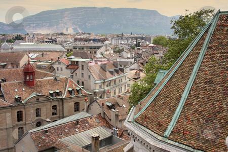 Geneva, Switzerland stock photo, panoramic view of Geneva, Switzerland from Cathedral Saint Pierre by vladacanon1