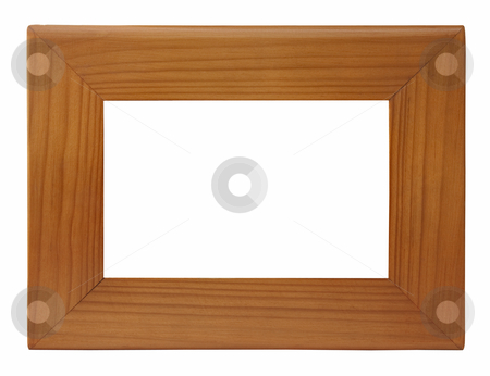 Wooden photo frame stock photo, Picture photo frame to put your own pictures in by paulrommer