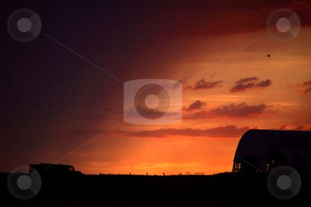 Gorgeous twilight in scenic Saskatchewan stock photo, Gorgeous twilight in scenic Saskatchewan by Mark Duffy
