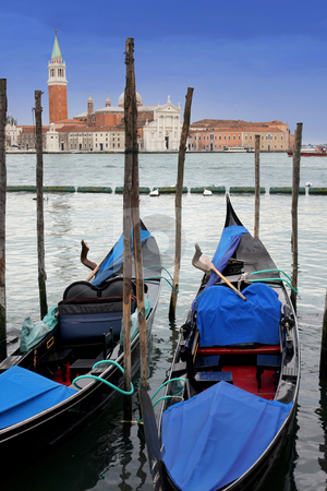 Venice, Italy stock photo, Saint Georgio Island and Gondola in Venice, Italy by vladacanon1
