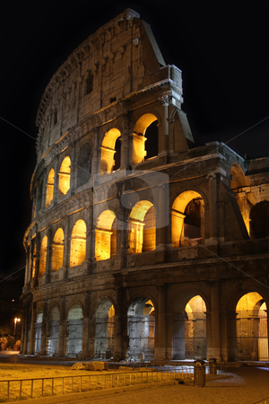 Colosseum at night in Rome, Italy   stock photo, The Colosseum at night in Rome, Italy   by vladacanon1