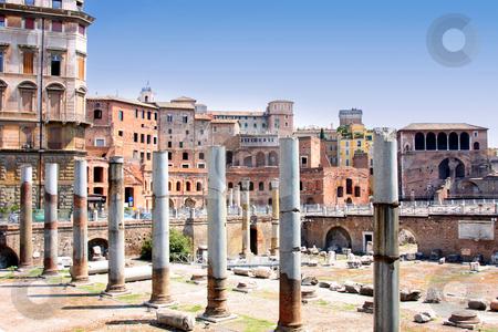 Trajan Forum, Rome, Italy stock photo, details column the Trajan Forum, Rome, Italy by vladacanon1