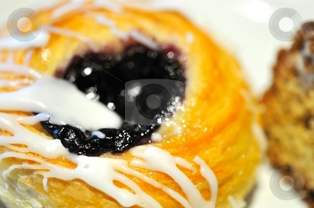 Blueberry bread stock photo, Macro shot of delicious looking blueberry bread by Wai Chung Tang