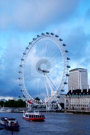 London Eye in London. stock photo, View the London Millennium Eye, travel and tourism by Vividrange